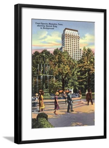 Court Square, Memphis--Framed Art Print