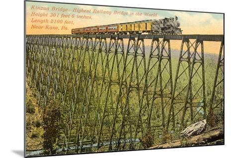 Kinzua Bridge, Kane--Mounted Art Print