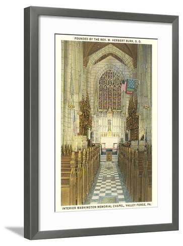 Memorial Chapel, Valley Forge--Framed Art Print