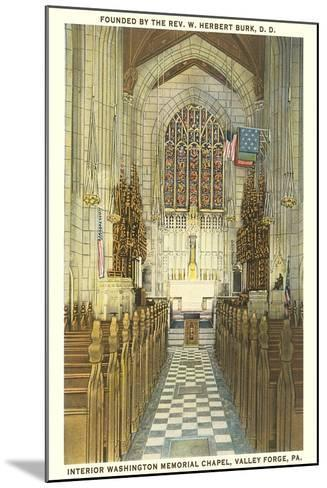 Memorial Chapel, Valley Forge--Mounted Art Print