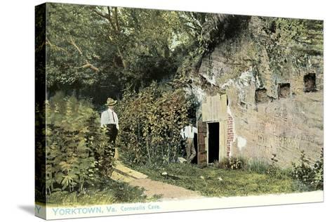 Cornwallis Cave, Yorktown--Stretched Canvas Print