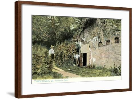 Cornwallis Cave, Yorktown--Framed Art Print