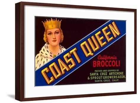 Broccoli Crate Label--Framed Art Print
