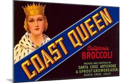 Broccoli Crate Label--Mounted Art Print