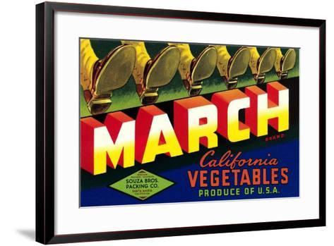 Crate Label for March Vegetables--Framed Art Print