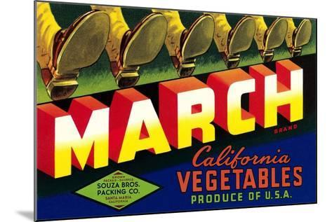 Crate Label for March Vegetables--Mounted Art Print