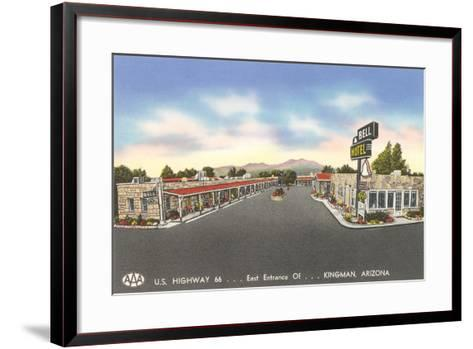 Bell Motel, Kingman Arizona--Framed Art Print
