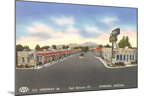 Bell Motel, Kingman Arizona--Mounted Art Print