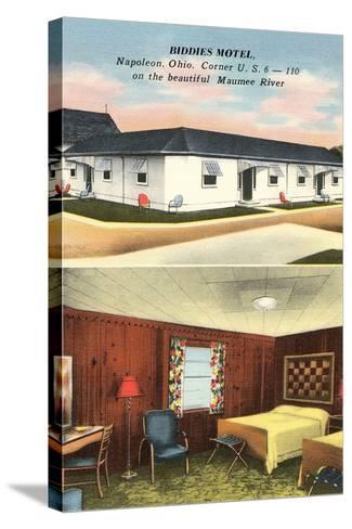Biddies Motel, Napoleon, Ohio--Stretched Canvas Print
