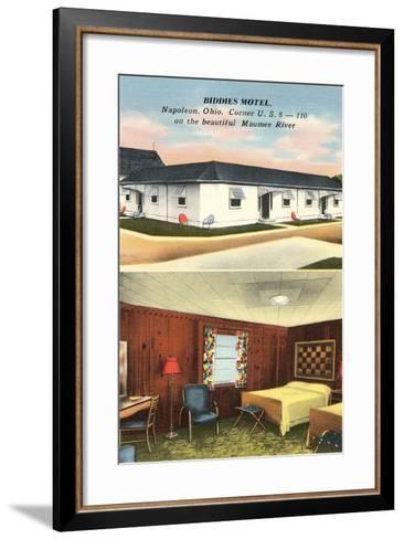 Biddies Motel, Napoleon, Ohio--Framed Art Print