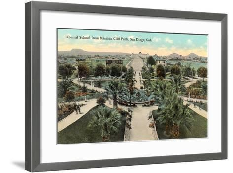 Normal School from Mission Cliff Park--Framed Art Print
