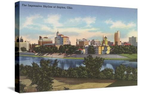 Impressive Skyline, Dayton--Stretched Canvas Print