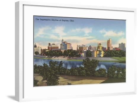 Impressive Skyline, Dayton--Framed Art Print