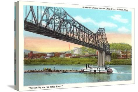 Interstate Bridge, Bellaire--Stretched Canvas Print