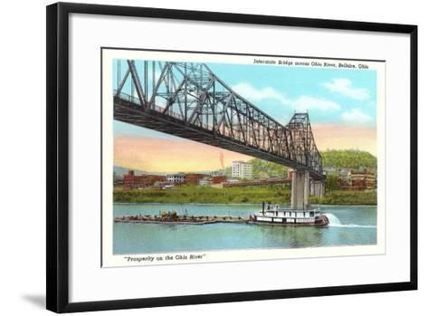 Interstate Bridge, Bellaire--Framed Art Print