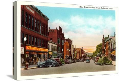 Main Street, Coshocton--Stretched Canvas Print