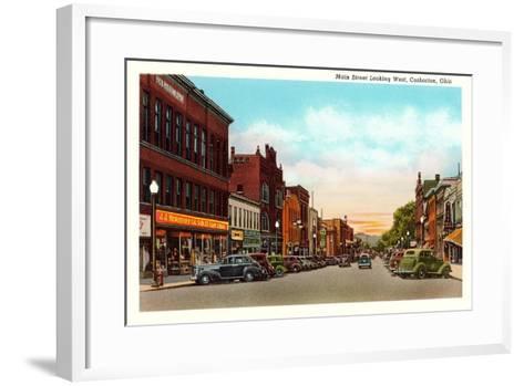 Main Street, Coshocton--Framed Art Print