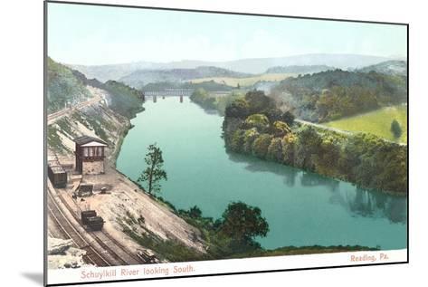 Shuykill River, Reading--Mounted Art Print