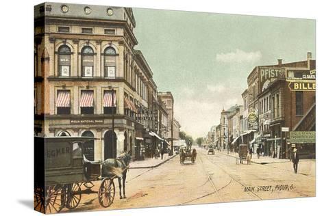 Main Street, Piqua--Stretched Canvas Print