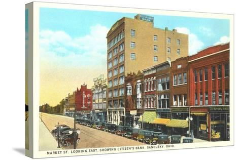 Market Street, Sandusky--Stretched Canvas Print