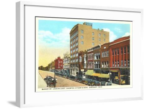Market Street, Sandusky--Framed Art Print