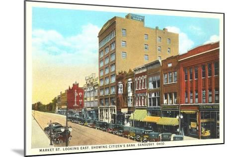 Market Street, Sandusky--Mounted Art Print