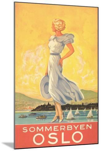 Oslo Travel Poster--Mounted Art Print