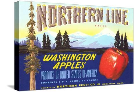 Northern Line Apple Label--Stretched Canvas Print