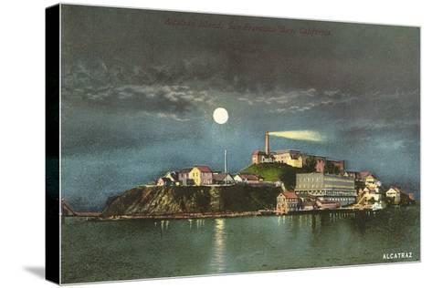 Alcatraz by Night--Stretched Canvas Print