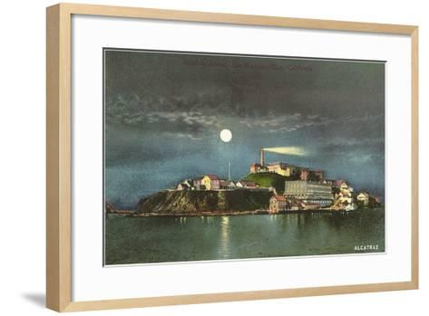 Alcatraz by Night--Framed Art Print