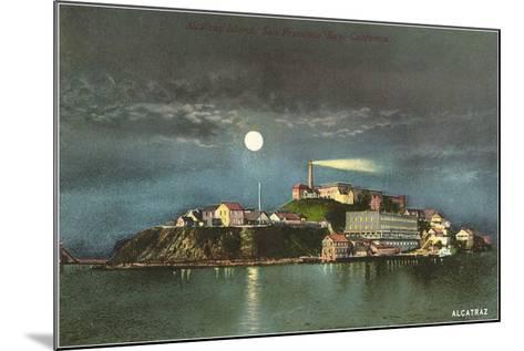 Alcatraz by Night--Mounted Art Print