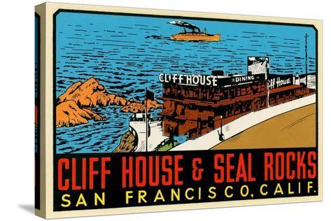 Cliff House Decal--Stretched Canvas Print