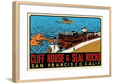 Cliff House Decal--Framed Art Print