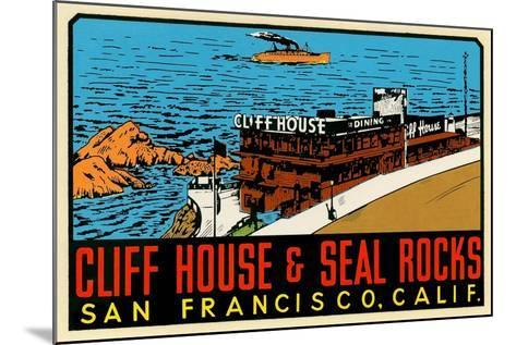 Cliff House Decal--Mounted Art Print