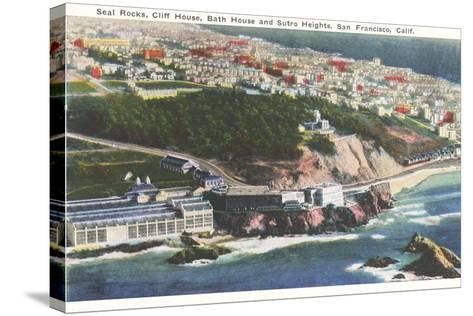 Cliff House, Seal Rocks--Stretched Canvas Print