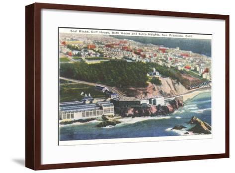 Cliff House, Seal Rocks--Framed Art Print