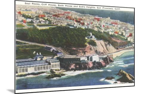 Cliff House, Seal Rocks--Mounted Art Print