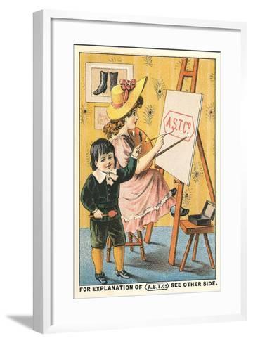 Children at Easel--Framed Art Print