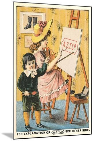 Children at Easel--Mounted Art Print