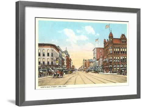 North Main Street, Lima--Framed Art Print