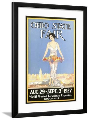 Ohio State Fair Poster, Columbus--Framed Art Print
