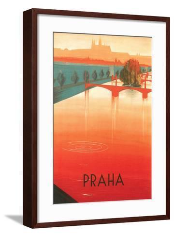 Prague Travel Poster--Framed Art Print