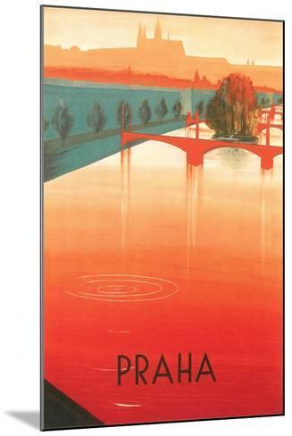 Prague Travel Poster--Mounted Art Print
