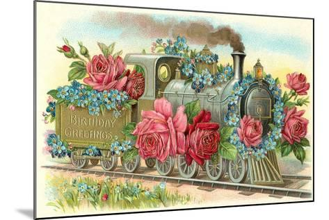 Birthday Greetings, Rose Train--Mounted Art Print