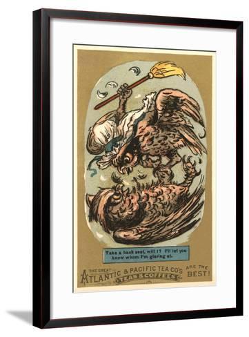 Fighting Owls--Framed Art Print
