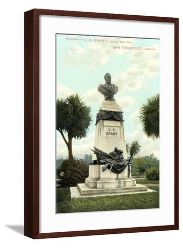 US Grant Monument, Golden Gate Park--Framed Art Print