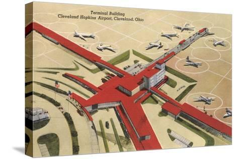 Terminal Building, Cleveland Airport--Stretched Canvas Print