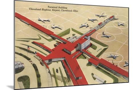 Terminal Building, Cleveland Airport--Mounted Art Print