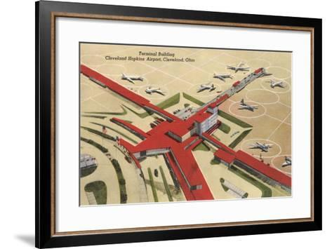 Terminal Building, Cleveland Airport--Framed Art Print