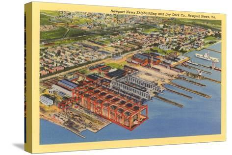 Newport News Shipyard--Stretched Canvas Print